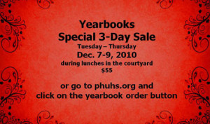 Last chances to order your yearbook