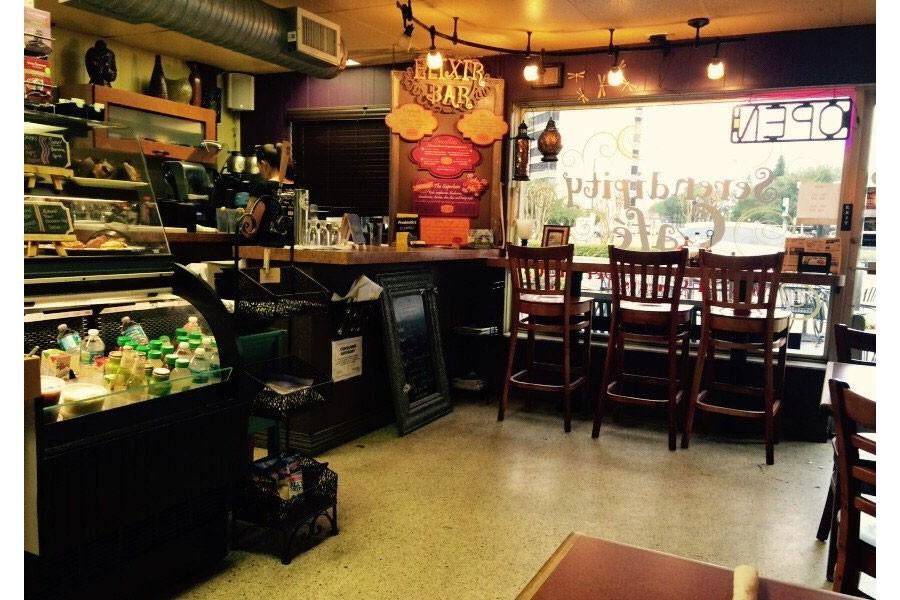 An inside view of Serendipity Cafe in Dunedin, Florida.
