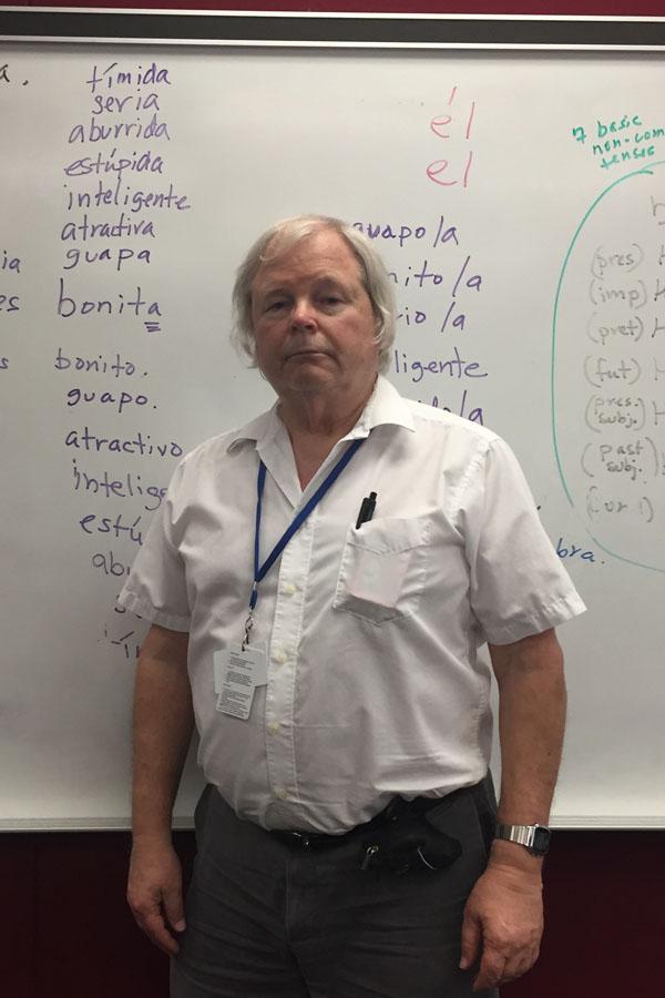 Dr.Pfost teaches Pre-IB Spanish 3 & 4