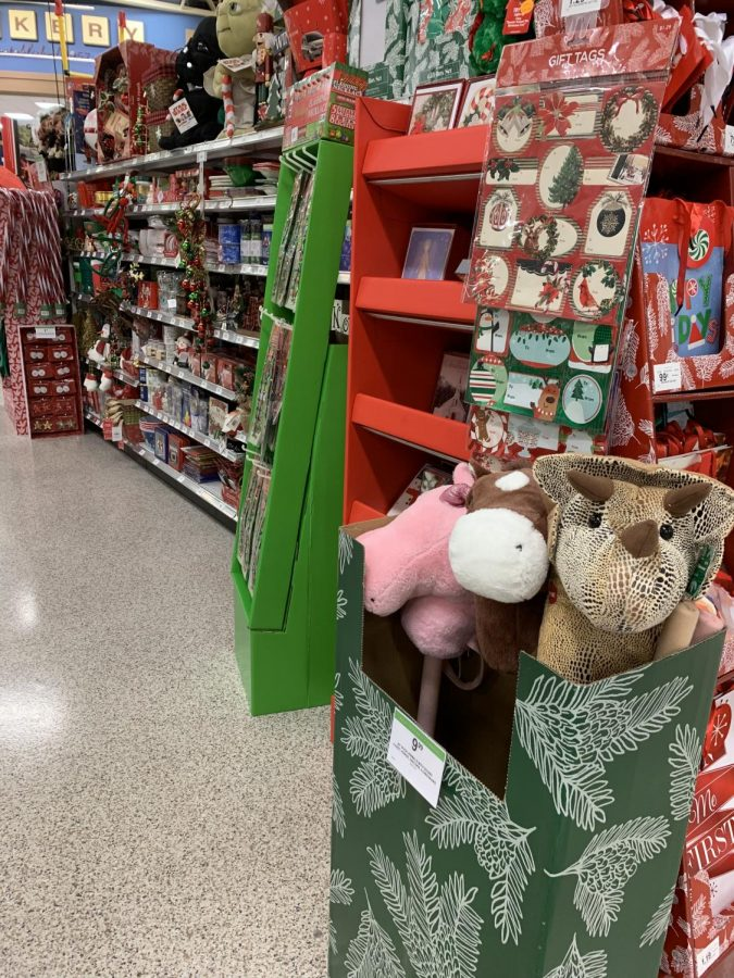 Publix has their own Christmas aisle in the front of the store.