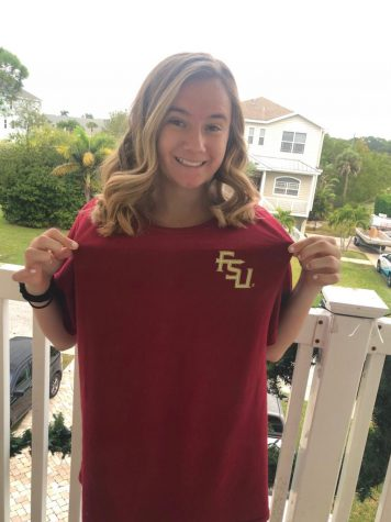 Showing off her FSU spirit, Gianna German supports them despite the loss.