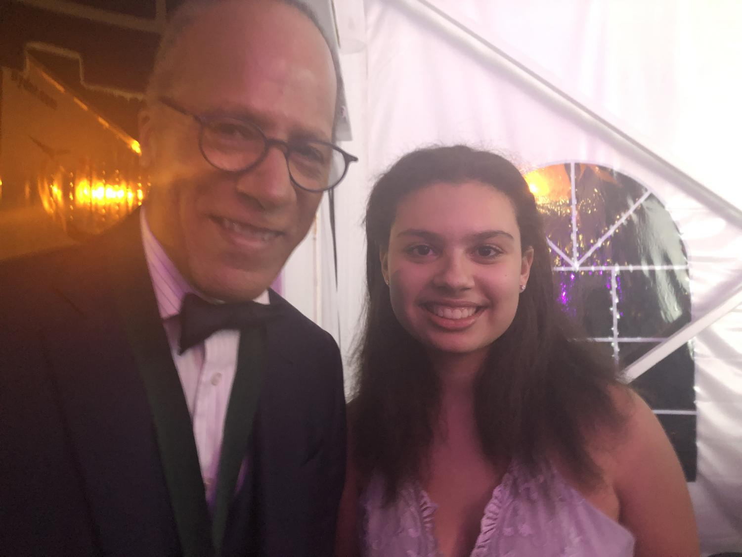 Lester Holt and I at Poynter's annual Ball.