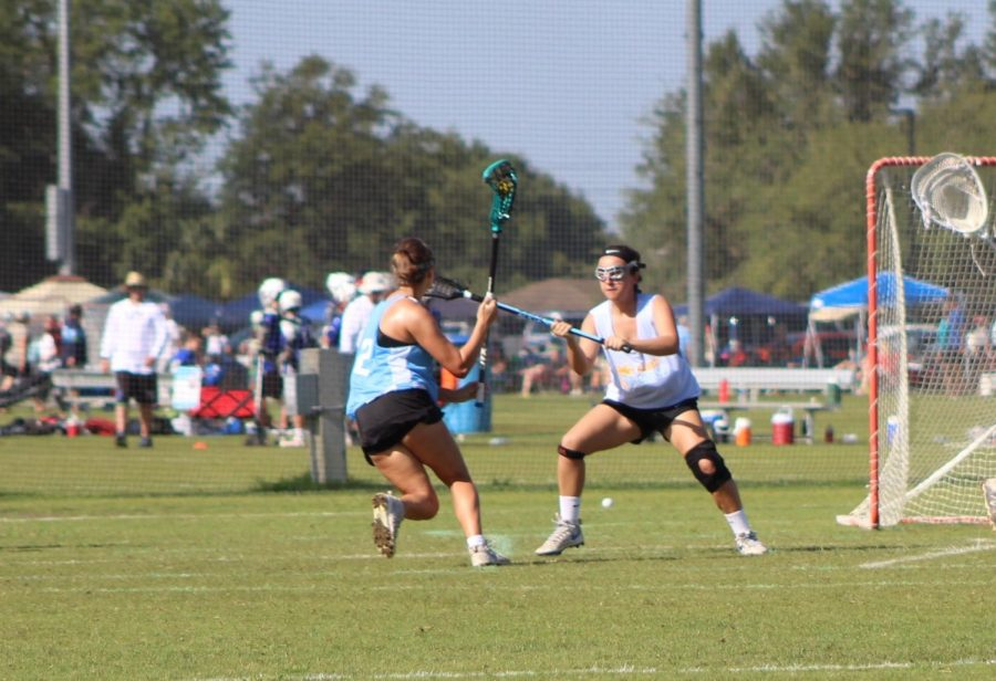 Sophia+Sesi+%28%E2%80%9820%29%2C+a+lacrosse+player+from+PHU%2C+played+in+a+recruiting+tournament+over+the+summer+with+her+travel+Tampa+Tropics+in+West+Palm+Beach.