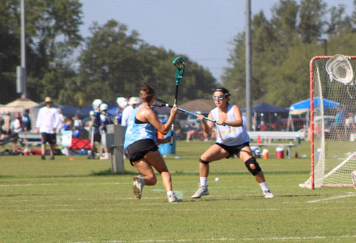 Sophia Sesi ('20), a lacrosse player from PHU, played in a recruiting tournament over the summer with her travel Tampa Tropics in West Palm Beach.