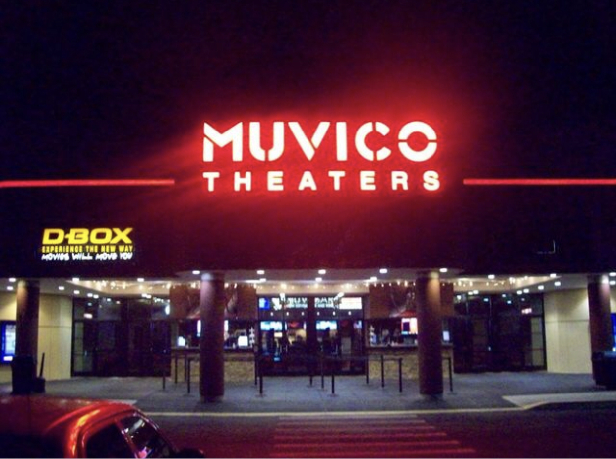 Movie theaters such as Muvico, come out with movies on their release date for people to watch.