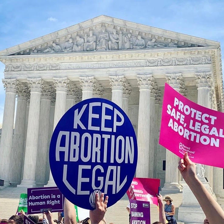 In+the+wake+of+abortion+legislation.+people+gather+outside+of+the+Supreme+Court+in+protest.