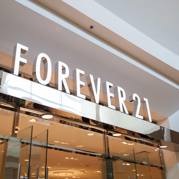 Forever 21 store in the Westfield Mall