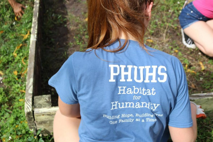Habitat for Humanity is a club at PHUHS that attends several volunteering events such as this ReStore garden.
