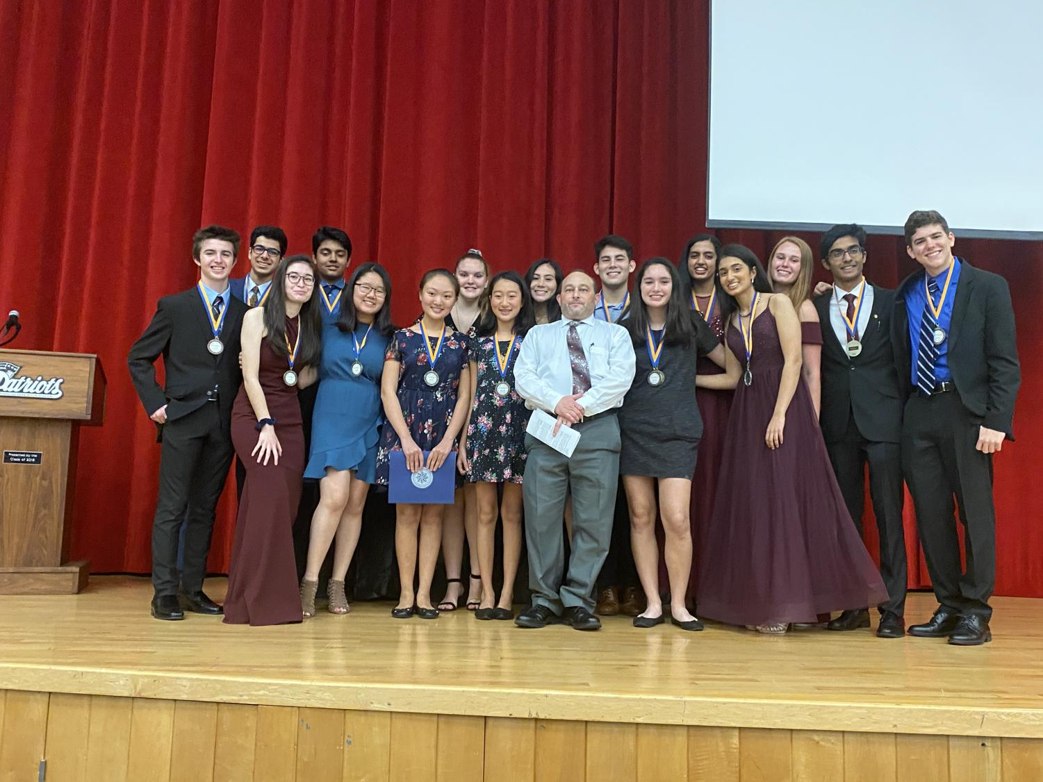 PHU FBLA winners sport their medals at Pinellas Park High School following the awards ceremony.