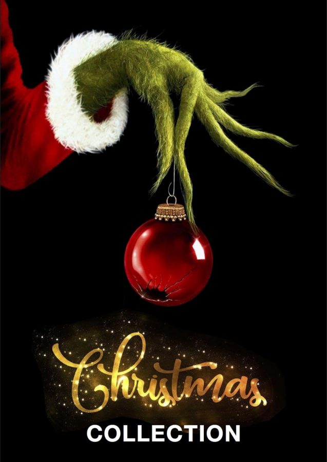"""The Grinch holding a broken ornament (Courtesy of """"Plex Collection Posters"""")"""