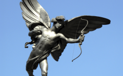 The statue of Cupid that represents Valentine's day.